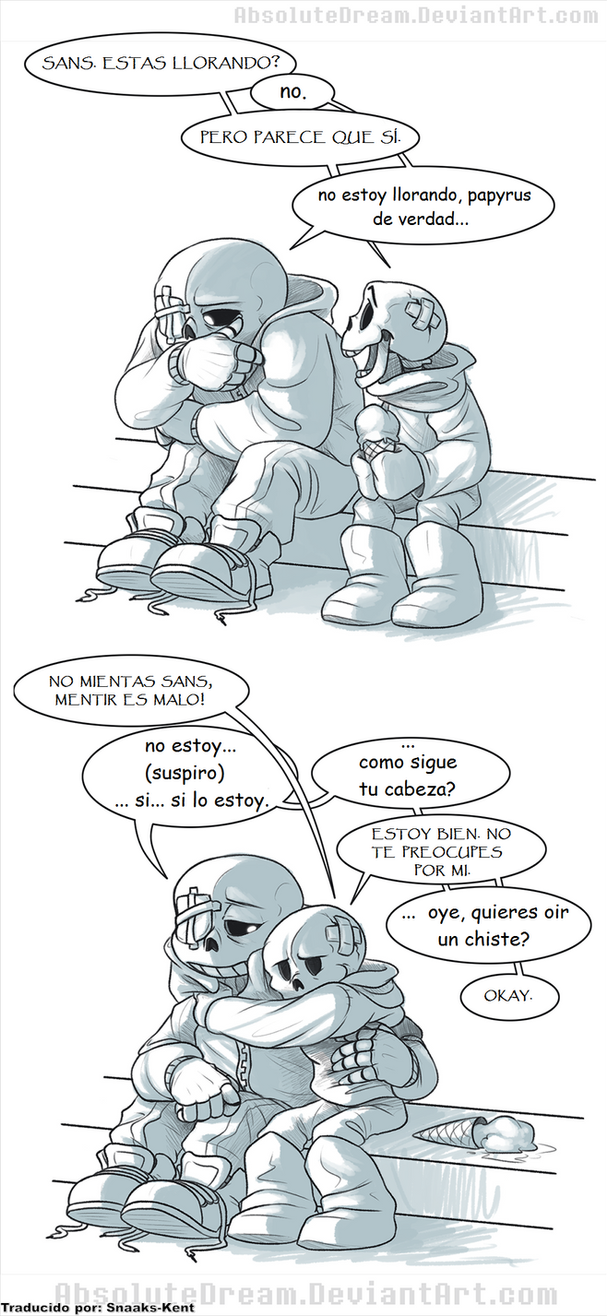 Undertale Comic: Dos Hermanos By AbsoluteDream by Snaaks-Kent