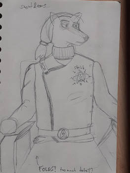 Terrell the Fox Captain - sketch