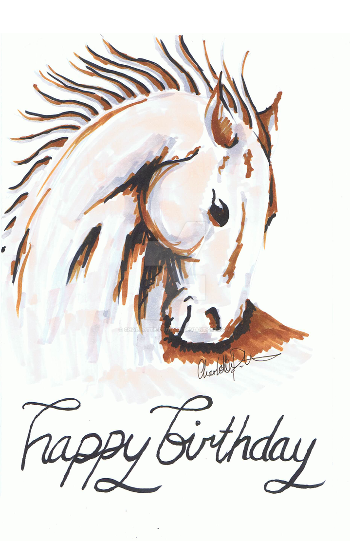 Incredible Birthday Card Horse By Charlotte P Utton On Deviantart Personalised Birthday Cards Epsylily Jamesorg