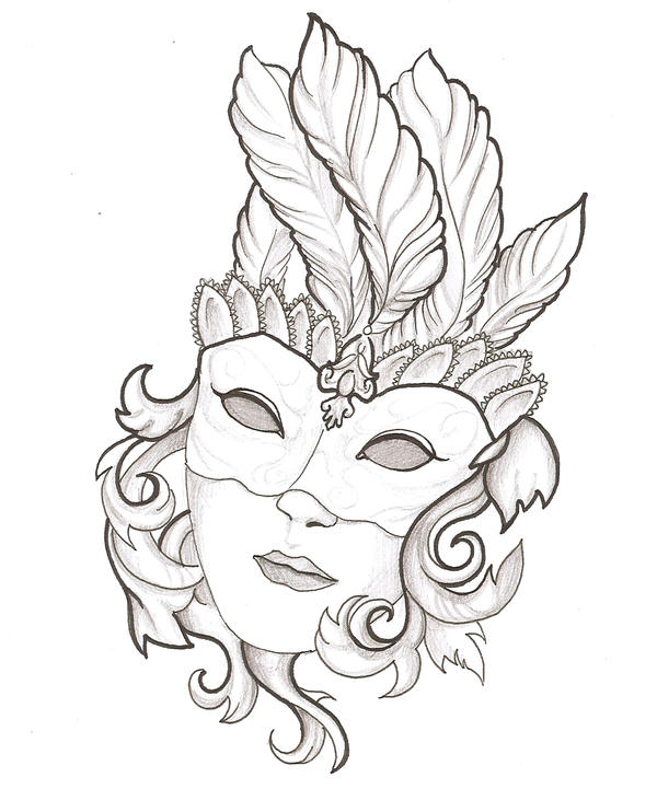 Line Drawing Face Tattoo : Mask by thingthatcandoit on deviantart