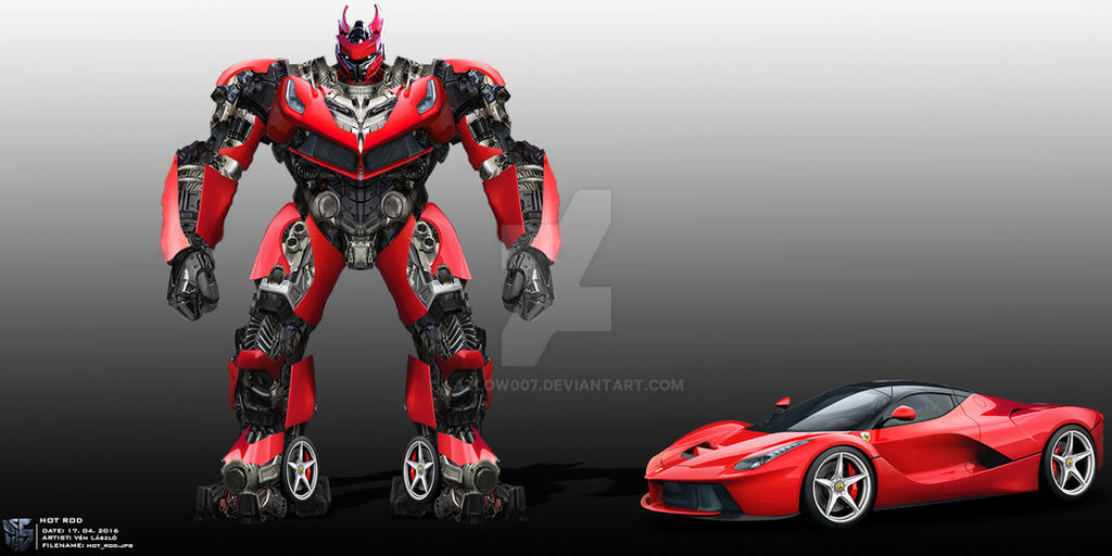 Transformers 5 Hot Rod Concept Art By Lazlow007 On