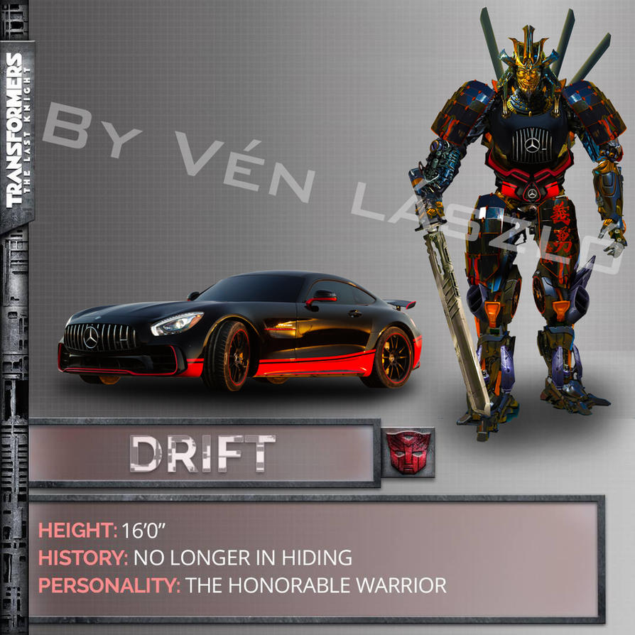 Transfomers 5 drift concept art by lazlow007 on deviantart - Autobot drift transformers 5 ...