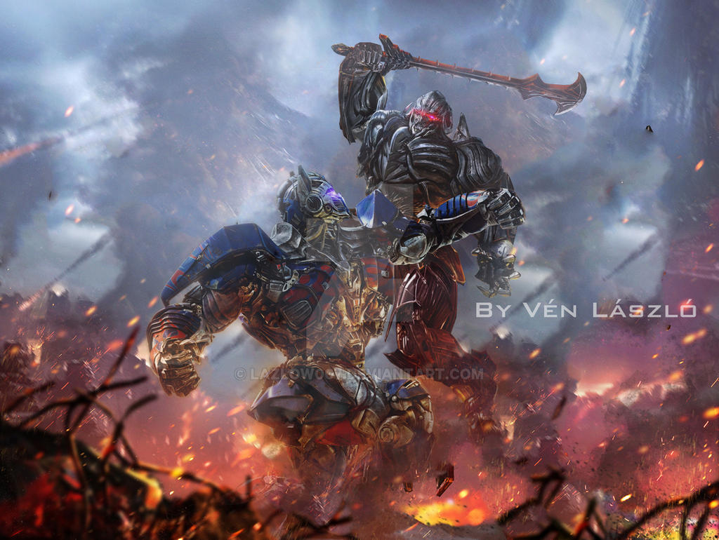 Transformers 5 optimus vs megatron promo by lazlow007 on - Transformers cartoon optimus prime vs megatron ...