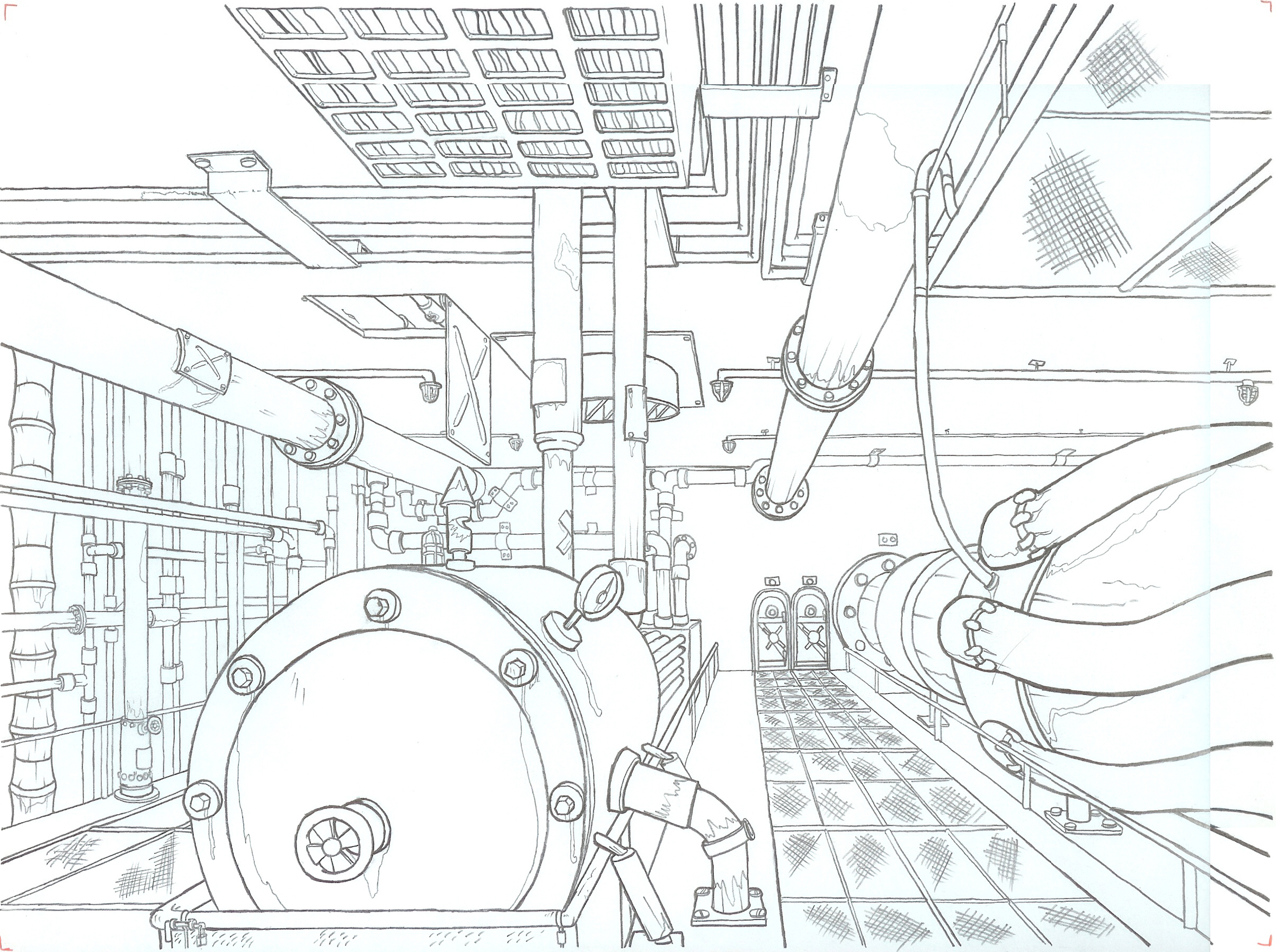 Ship Engine Room by Marasai on DeviantArt