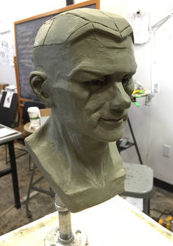 Male Head Sculpture
