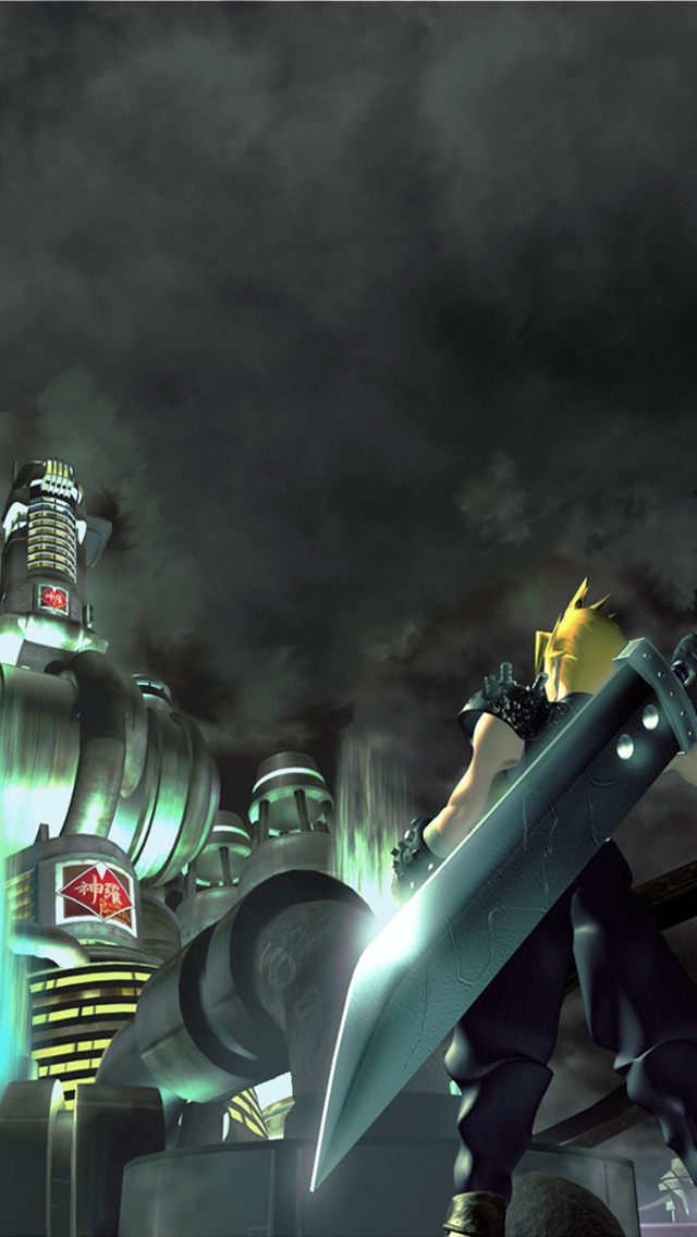 final fantasy vii wallpaper for iphone 5 by windschatten69