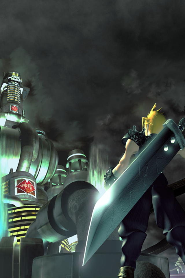 Final fantasy vii wallpaper for iphone 4 by windschatten69 - Final fantasy phone wallpaper ...