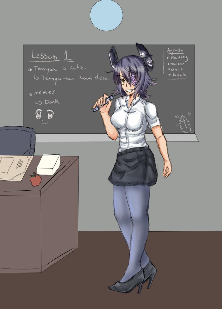 Teacher Tenryuu by Azel-Arts