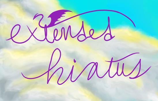 Extended Hiatus--Official Announcement