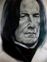 Drawing by Severus Snape (Alan Rickman) by GabrielKoiArt