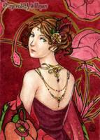 Garnet aceo by MeredithDillman