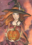 Magic Pumpkin ACEO