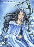 Blue Topaz aceo by MeredithDillman