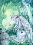 Unicorn in the forest...