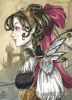 Steampunk Fairy aceo