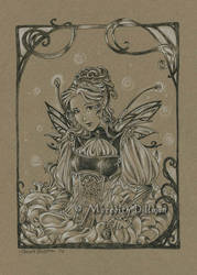Drawing - Steampunk Fairy by MeredithDillman