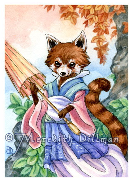 ACEO - Red Panda by MeredithDillman