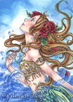 Poppy Mermaid ACEO by MeredithDillman