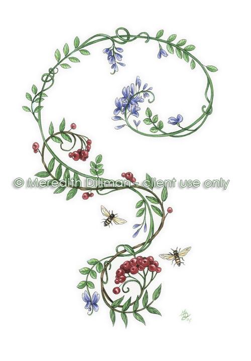 Indigo and Rowan tattoo design - 2009 by MeredithDillman