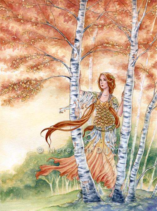 Birch Maiden by MeredithDillman