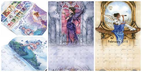 Kickstarter project - 2018 Fairy Calendar by MeredithDillman