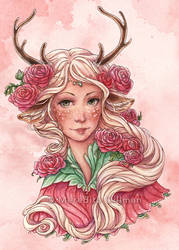 Pink Faun with Ranunculus by MeredithDillman