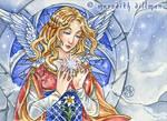 Snowflake Angel ACEO