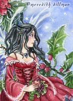 Holly Fairy ACEO by MeredithDillman
