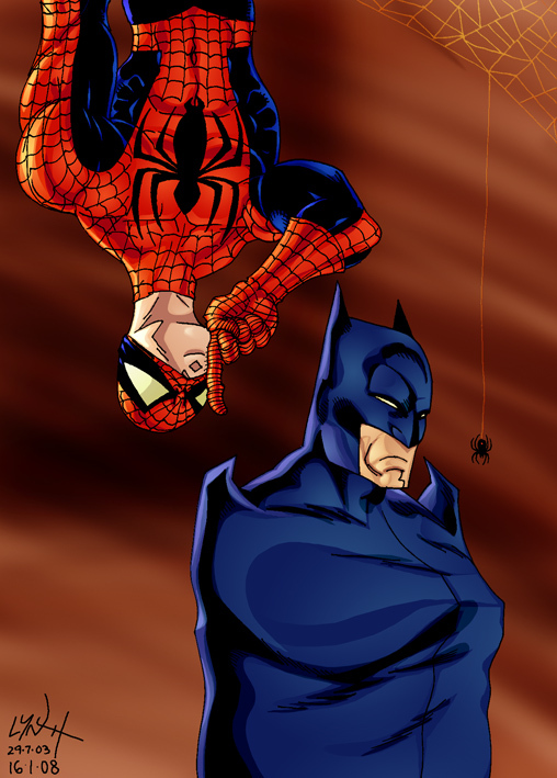 Spider-man meets Batman by Shadowrenderer