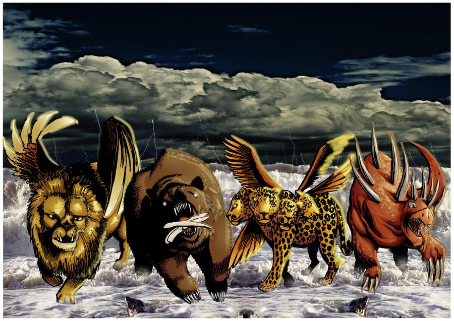 Daniel 7 the 4 beasts