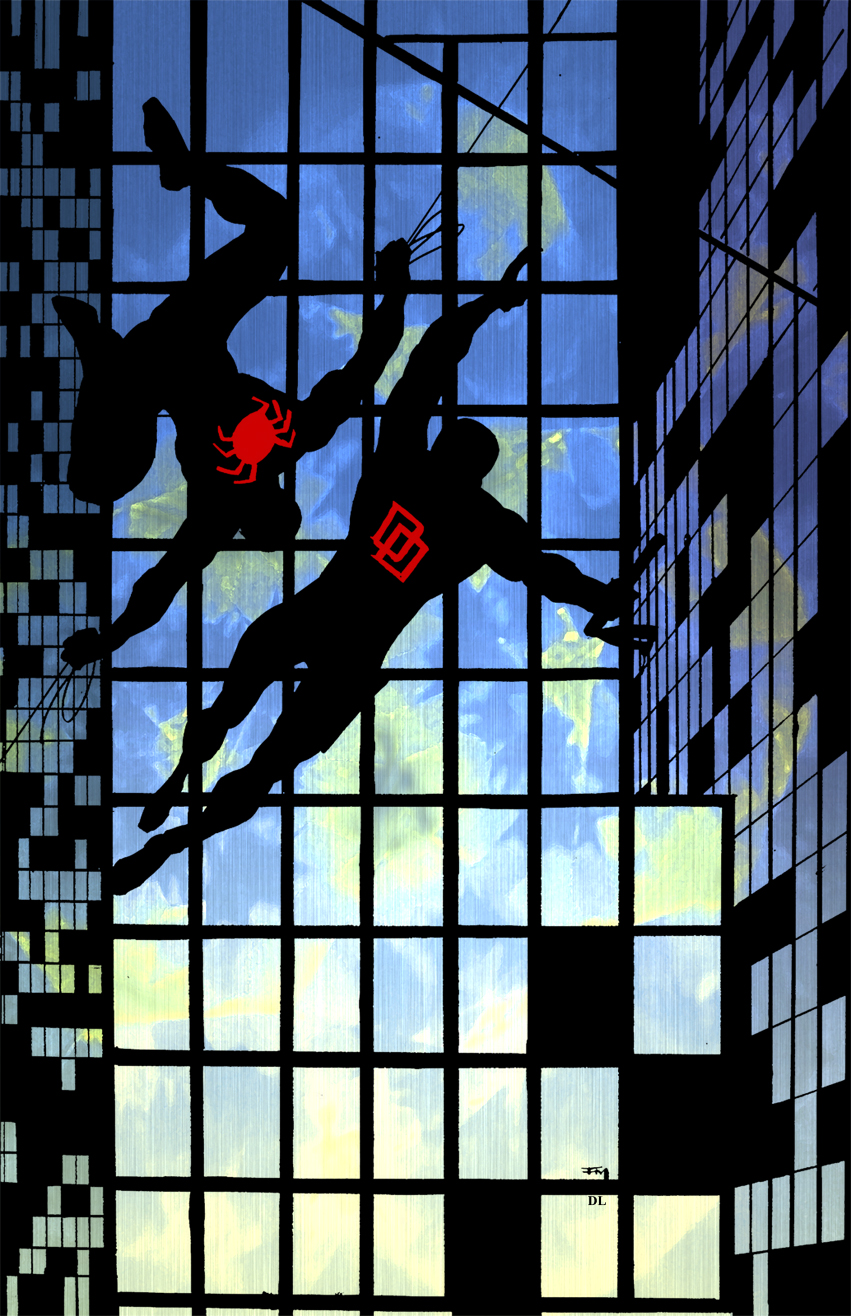 Daredevil Spiderman Frank Miller 1 By Shadowrenderer On