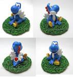 Super Mario- Blue Yoshi commission