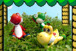 Relaxing at Yoshi's house