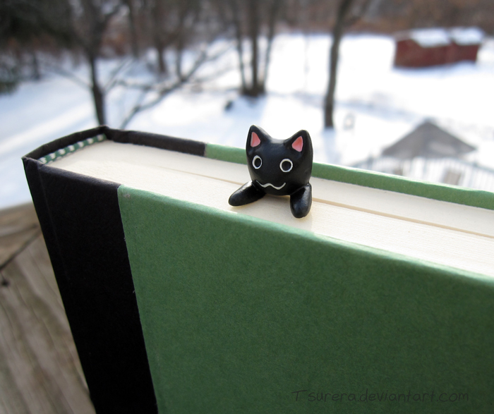 Longcat inspired Bookmark- Black version by Tsurera