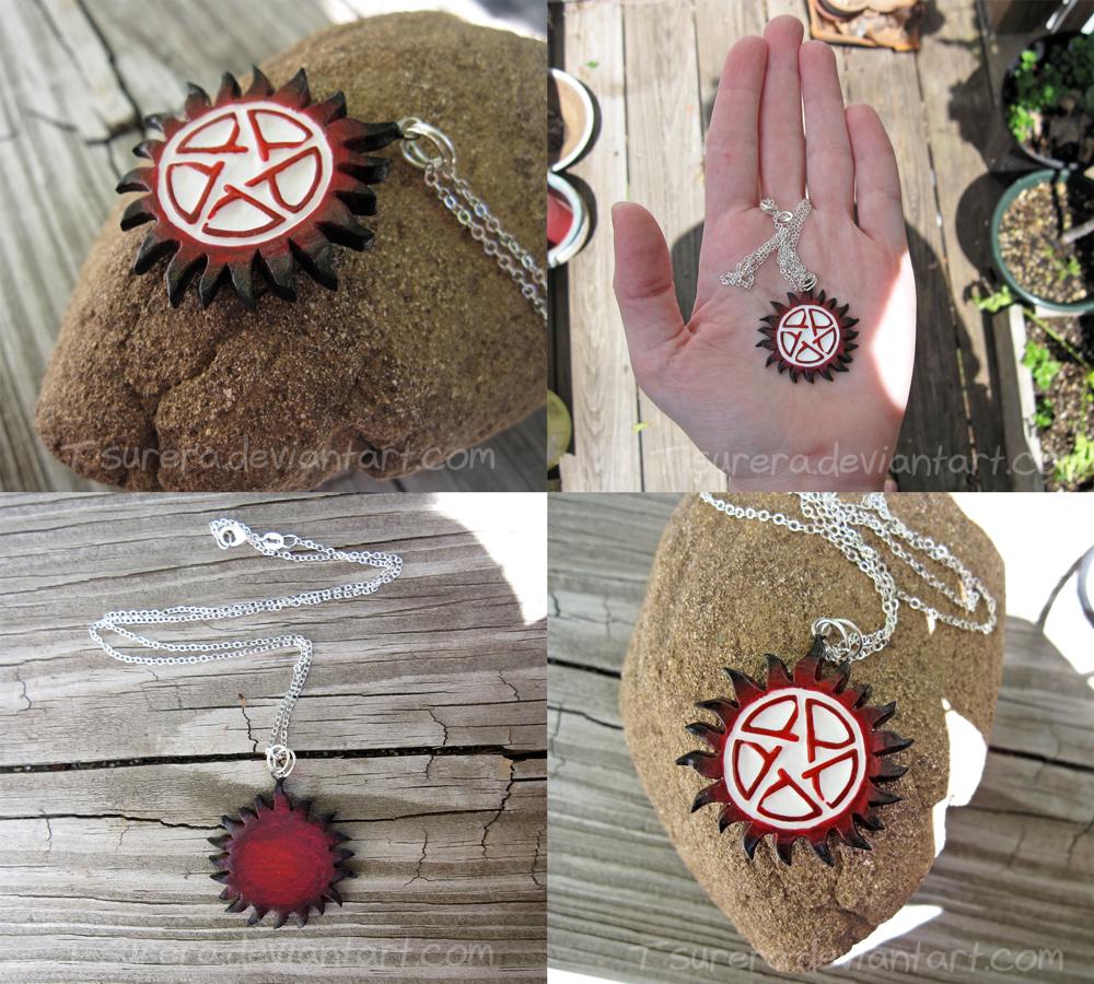 Supernatural Hellfire Version AntiPossession Charm by Tsurera