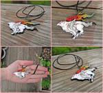 Okami Amaterasu Necklace Charm by MagiteksCraftworks