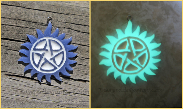 Glow in the Dark Supernatural Necklace by Tsurera