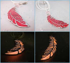 Phoenix Down - Glow in the Dark Charm Necklace