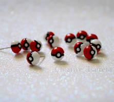 Large Pokemon Go Pokeball Earrings