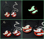 Ghostbusters Symbol Charm Pendant Glow in the Dark by MagiteksCraftworks
