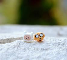Adventure Time Finn and Jake earrings
