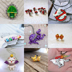 Sculpted resin Jewelry Compilation