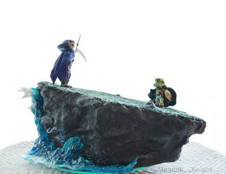 Chrono Trigger Magus and Frog Diorama Commission 2