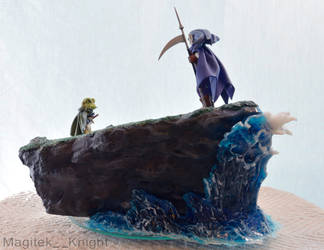 Chrono Trigger Magus and Frog Diorama Commission 3