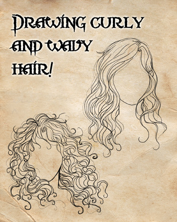 How i draw curly and wavy hair by cristianaleone