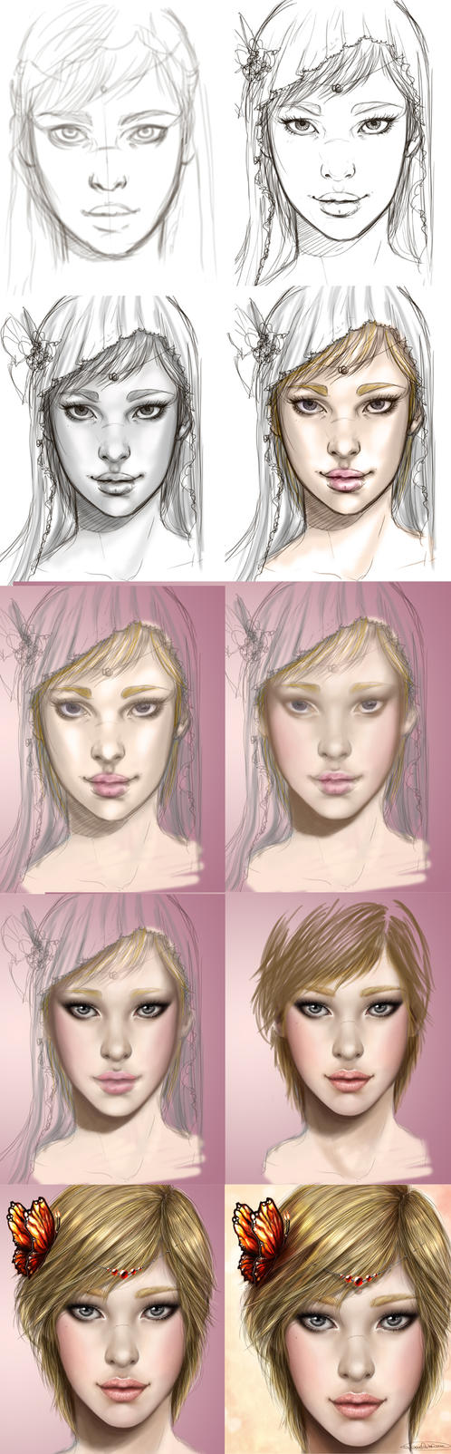 Ria Painting Process by CristianaLeone