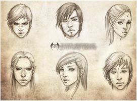 Sketch Portrait Set