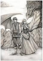 Seth Sophia and the dragon by CristianaLeone