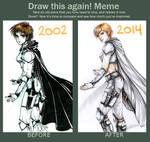 Ria - draw this again meme