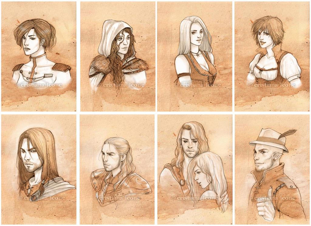 Sketch portraits - Set 3 by CristianaLeone